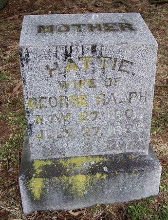 "RALPH, HETTA ""HATTIE"" - Kalamazoo County, Michigan | HETTA ""HATTIE"" RALPH - Michigan Gravestone Photos"
