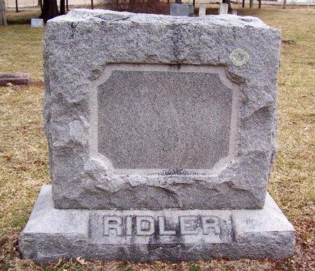 RIDLER, FAMILY MARKER - Kalamazoo County, Michigan | FAMILY MARKER RIDLER - Michigan Gravestone Photos
