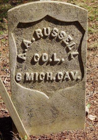 RUSSELL, ADUMAH A, - Kalamazoo County, Michigan   ADUMAH A, RUSSELL - Michigan Gravestone Photos