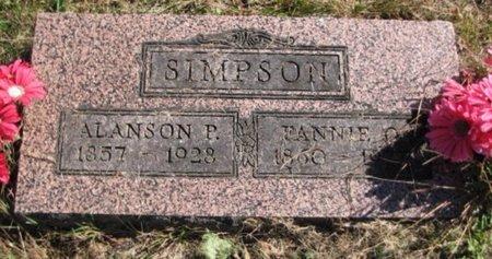 SIMPSON, ALANSON - Kalamazoo County, Michigan | ALANSON SIMPSON - Michigan Gravestone Photos