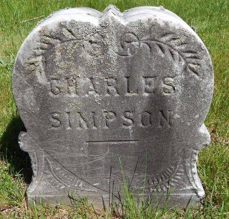 SIMPSON, CHARLES - Kalamazoo County, Michigan | CHARLES SIMPSON - Michigan Gravestone Photos
