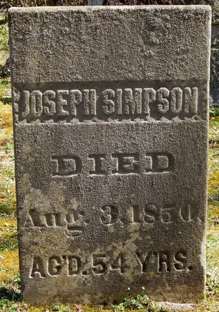 SIMPSON, JOSEPH - Kalamazoo County, Michigan | JOSEPH SIMPSON - Michigan Gravestone Photos