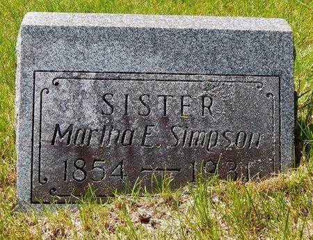 SIMPSON, MARTHA - Kalamazoo County, Michigan | MARTHA SIMPSON - Michigan Gravestone Photos