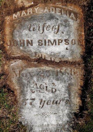 SIMPSON, MARY A. - Kalamazoo County, Michigan | MARY A. SIMPSON - Michigan Gravestone Photos