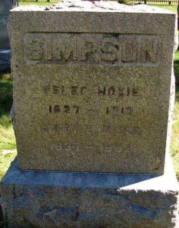 SIMPSON, MARY - Kalamazoo County, Michigan | MARY SIMPSON - Michigan Gravestone Photos