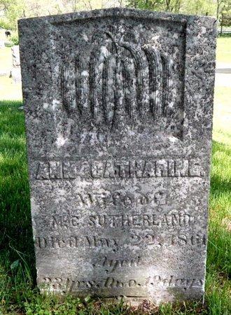 SUTHERLAND, ANN CATHARINE - Kalamazoo County, Michigan | ANN CATHARINE SUTHERLAND - Michigan Gravestone Photos