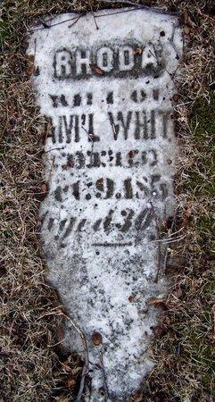 WHITE, RHODA - Kalamazoo County, Michigan | RHODA WHITE - Michigan Gravestone Photos
