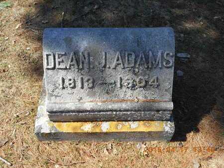 ADAMS, DEAN J. - Marquette County, Michigan   DEAN J. ADAMS - Michigan Gravestone Photos