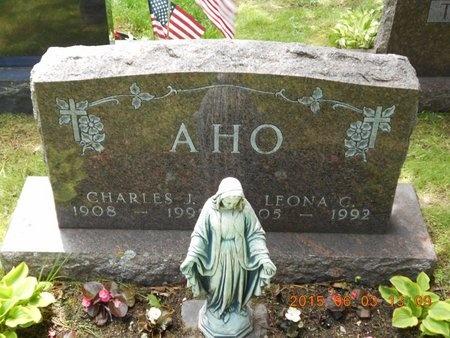 AHO, LEONA C. - Marquette County, Michigan   LEONA C. AHO - Michigan Gravestone Photos