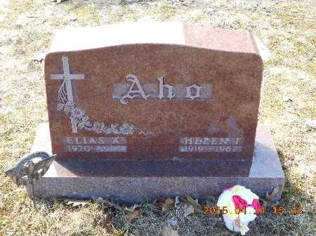AHO, HELEN I. - Marquette County, Michigan | HELEN I. AHO - Michigan Gravestone Photos