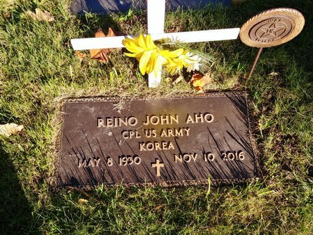 AHO, REINO JOHN - Marquette County, Michigan | REINO JOHN AHO - Michigan Gravestone Photos