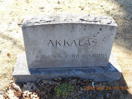 AKKALA, WILHELMIINA - Marquette County, Michigan   WILHELMIINA AKKALA - Michigan Gravestone Photos