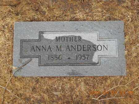 ANDERSON, ANNA M. - Marquette County, Michigan   ANNA M. ANDERSON - Michigan Gravestone Photos