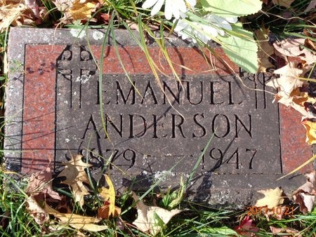 ANDERSON, EMAUEL - Marquette County, Michigan | EMAUEL ANDERSON - Michigan Gravestone Photos