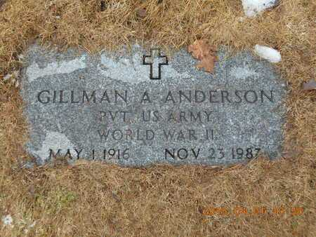 ANDERSON, GILLMAN A. - Marquette County, Michigan | GILLMAN A. ANDERSON - Michigan Gravestone Photos