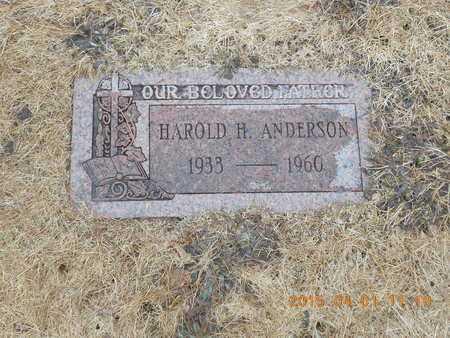 ANDERSON, HAROLD H. - Marquette County, Michigan | HAROLD H. ANDERSON - Michigan Gravestone Photos