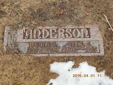 ANDERSON, HAROLD A. - Marquette County, Michigan | HAROLD A. ANDERSON - Michigan Gravestone Photos