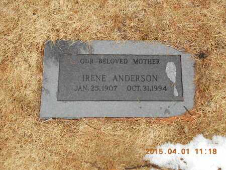ANDERSON, IRENE - Marquette County, Michigan   IRENE ANDERSON - Michigan Gravestone Photos