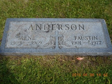 ANDERSON, IRENE - Marquette County, Michigan | IRENE ANDERSON - Michigan Gravestone Photos