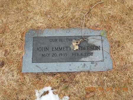 ANDERSON, JOHN EMMETT - Marquette County, Michigan   JOHN EMMETT ANDERSON - Michigan Gravestone Photos
