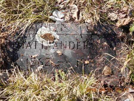 ANDERSON, MATT - Marquette County, Michigan   MATT ANDERSON - Michigan Gravestone Photos