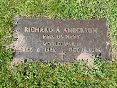 ANDERSON, RICHARD A. - Marquette County, Michigan   RICHARD A. ANDERSON - Michigan Gravestone Photos