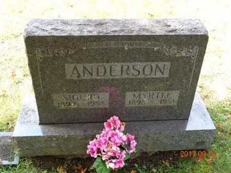 ANDERSON, SIGURD - Marquette County, Michigan | SIGURD ANDERSON - Michigan Gravestone Photos