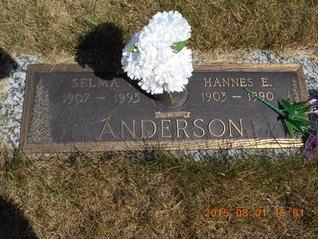 ANDERSON, HANNES E. - Marquette County, Michigan | HANNES E. ANDERSON - Michigan Gravestone Photos