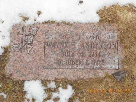 ANDERSON, WAYNE H. - Marquette County, Michigan | WAYNE H. ANDERSON - Michigan Gravestone Photos