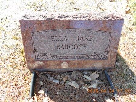 BABCOCK, ELLA JANE - Marquette County, Michigan | ELLA JANE BABCOCK - Michigan Gravestone Photos