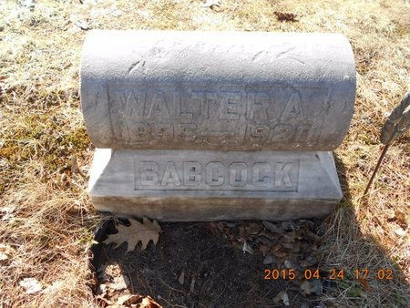 BABCOCK, WALTER A. - Marquette County, Michigan | WALTER A. BABCOCK - Michigan Gravestone Photos