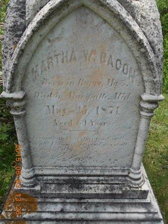 BACON, MARTHA W. - Marquette County, Michigan | MARTHA W. BACON - Michigan Gravestone Photos