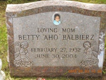 BALBIERZ, BETTY - Marquette County, Michigan | BETTY BALBIERZ - Michigan Gravestone Photos