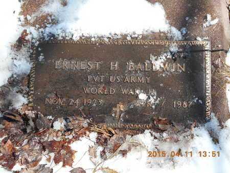 BALDWIN, ERNEST H. - Marquette County, Michigan   ERNEST H. BALDWIN - Michigan Gravestone Photos