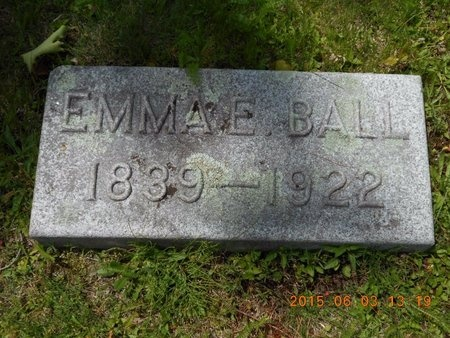 BALL, EMMA E. - Marquette County, Michigan | EMMA E. BALL - Michigan Gravestone Photos