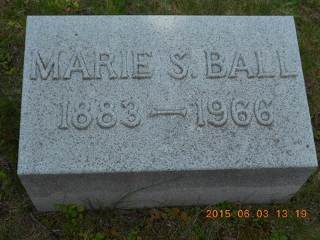 BALL, MARIE S. - Marquette County, Michigan   MARIE S. BALL - Michigan Gravestone Photos