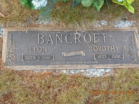 BANCROFT, LEON - Marquette County, Michigan | LEON BANCROFT - Michigan Gravestone Photos