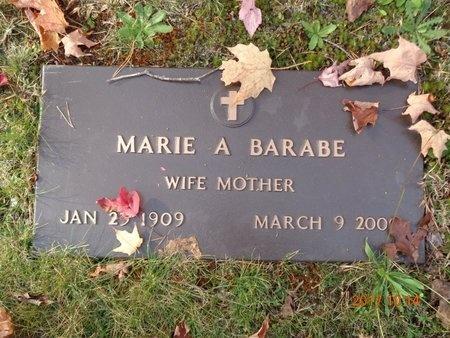 BARABE, MARIE A. - Marquette County, Michigan | MARIE A. BARABE - Michigan Gravestone Photos