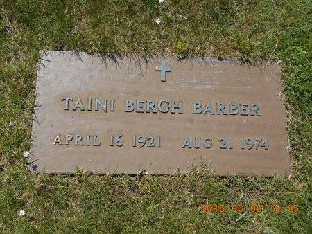BERGH BARBER, TAINI - Marquette County, Michigan   TAINI BERGH BARBER - Michigan Gravestone Photos