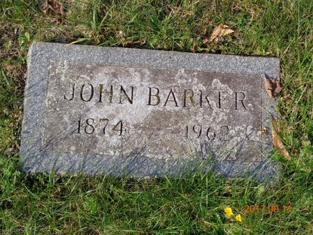 BARKER, JOHN - Marquette County, Michigan | JOHN BARKER - Michigan Gravestone Photos