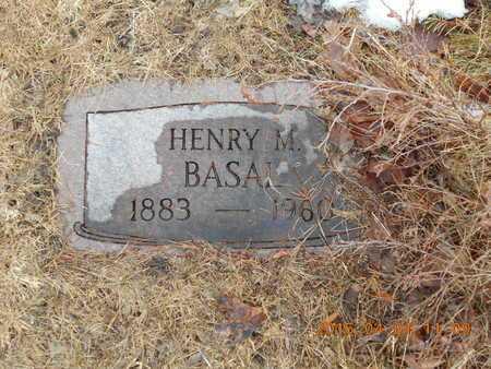 BASAL, HENRY M. - Marquette County, Michigan | HENRY M. BASAL - Michigan Gravestone Photos