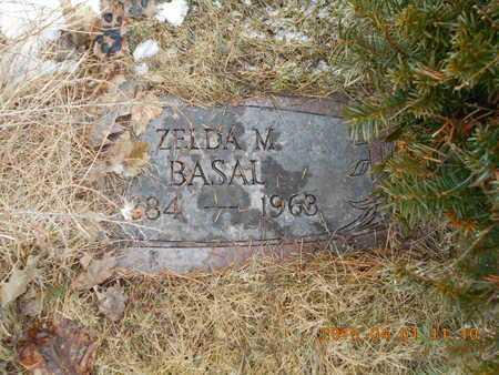 BASAL, ZELDA M. - Marquette County, Michigan   ZELDA M. BASAL - Michigan Gravestone Photos