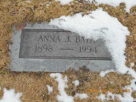 BATH, ANNA J. - Marquette County, Michigan   ANNA J. BATH - Michigan Gravestone Photos