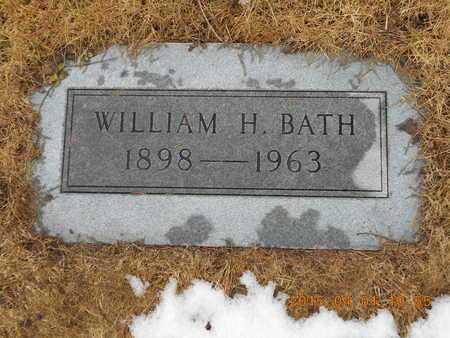 BATH, WILLIAM H. - Marquette County, Michigan   WILLIAM H. BATH - Michigan Gravestone Photos