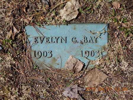 BAY, EVELYN G. - Marquette County, Michigan   EVELYN G. BAY - Michigan Gravestone Photos