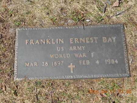 BAY, FRANKLIN ERNEST - Marquette County, Michigan | FRANKLIN ERNEST BAY - Michigan Gravestone Photos