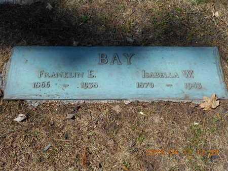 BAY, ISABELLA W. - Marquette County, Michigan | ISABELLA W. BAY - Michigan Gravestone Photos