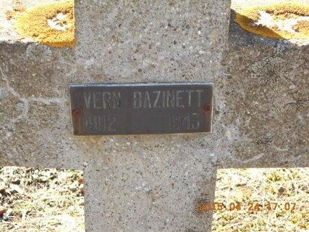 BAZINETT, VERN - Marquette County, Michigan | VERN BAZINETT - Michigan Gravestone Photos