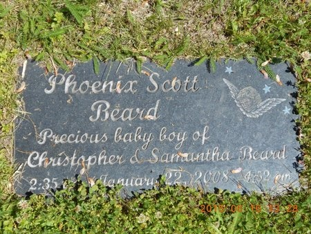BEARD, PHOENIX SCOTT - Marquette County, Michigan | PHOENIX SCOTT BEARD - Michigan Gravestone Photos
