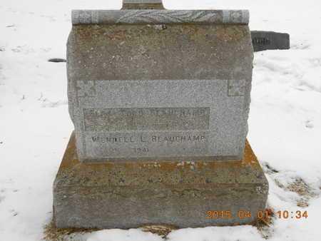 BEAUCHAMP, FAMILY - Marquette County, Michigan   FAMILY BEAUCHAMP - Michigan Gravestone Photos
